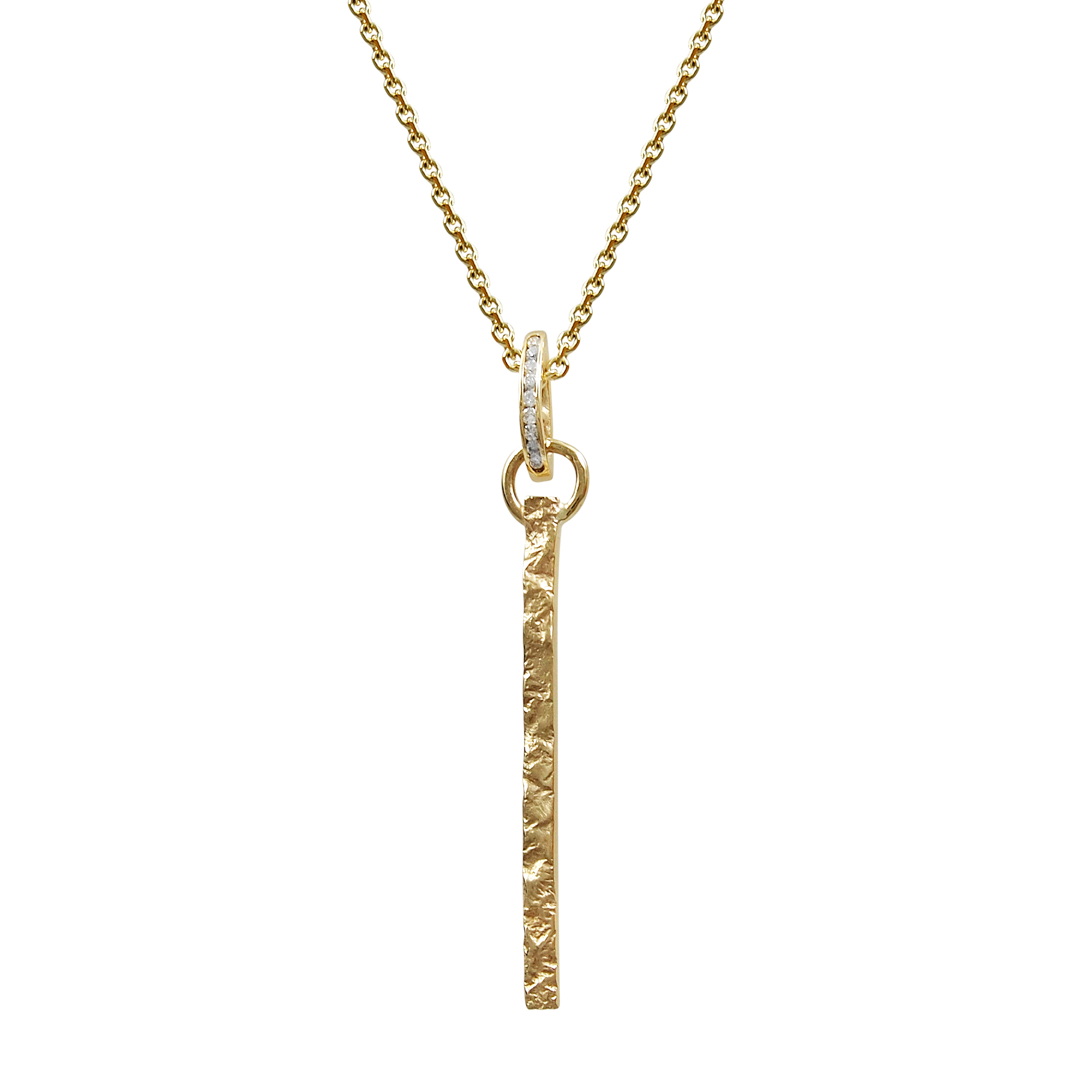 cosanuova gold bar necklaces pendant in love yellow necklace diamond jewelry