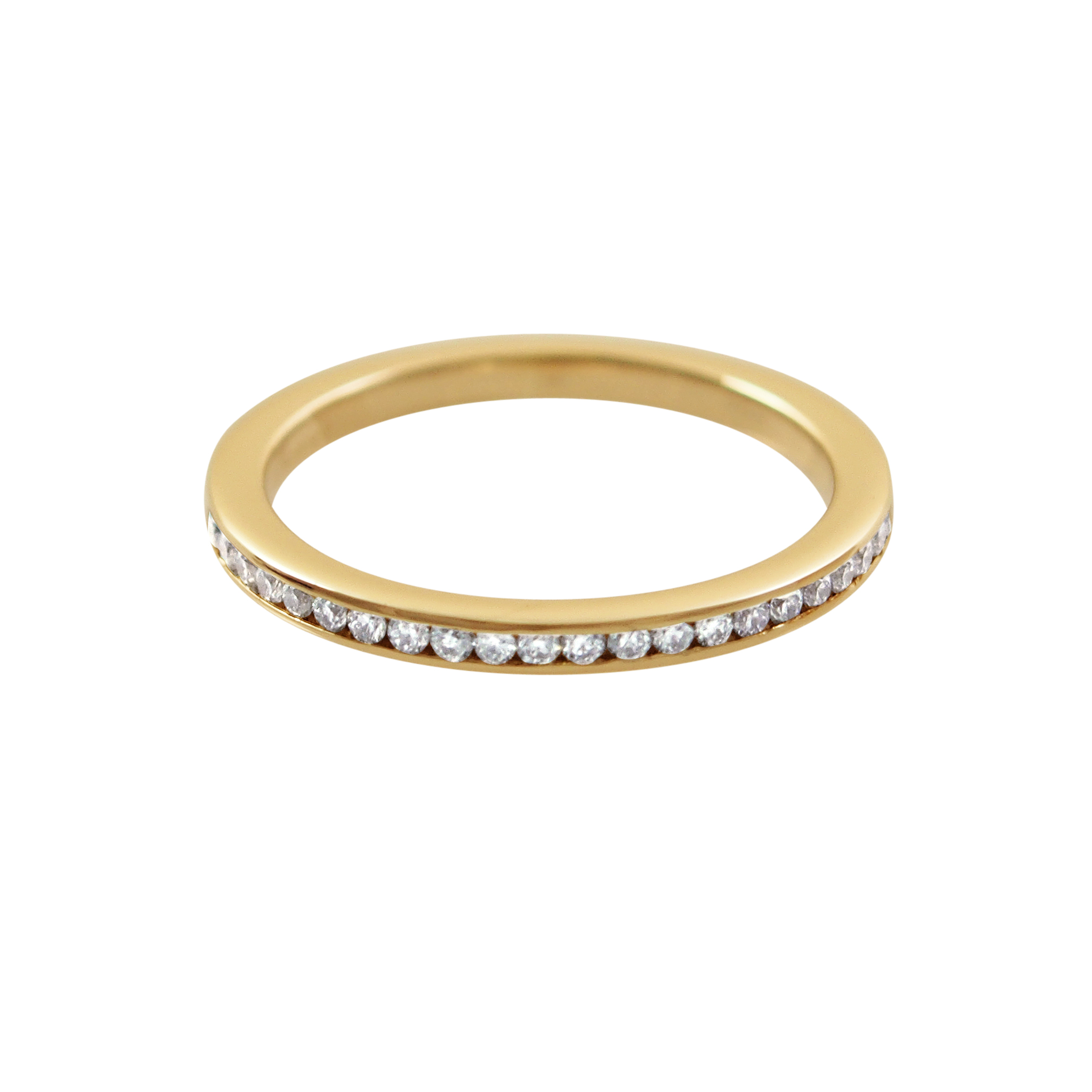 top band in gold row ring white eternity jewellery double rings diamond